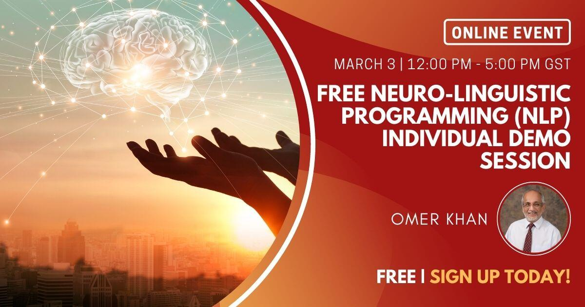 Free Neuro-Linguistic Programming (NLP) Individual Demo Session